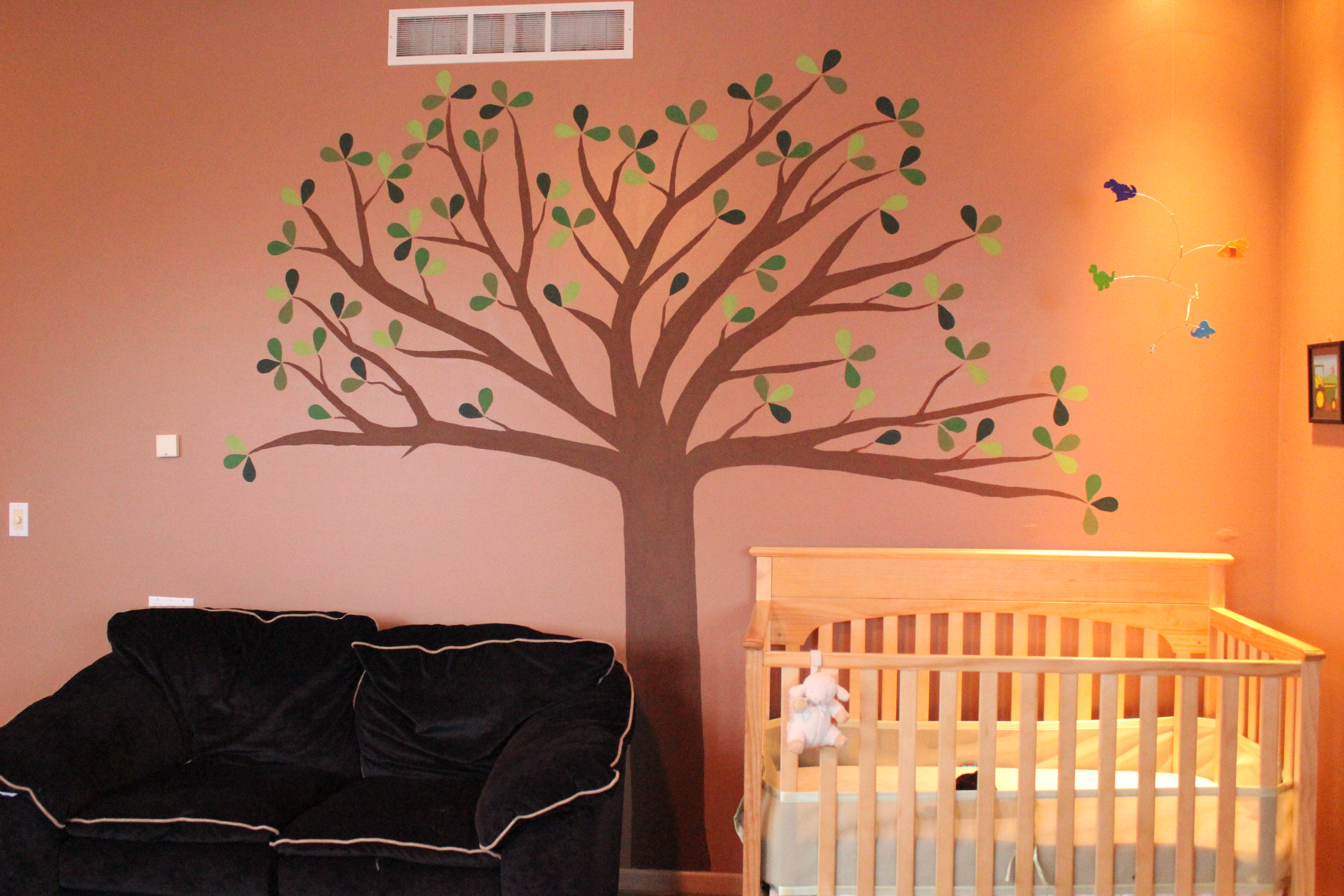 How to paint a tree on your wall - I Love The New Fad Right Now Of Having A Giant Tree Painted On Your Child S Bedroom Wall It S Awesome So Naturally I Wanted To Have One In Evan S Room