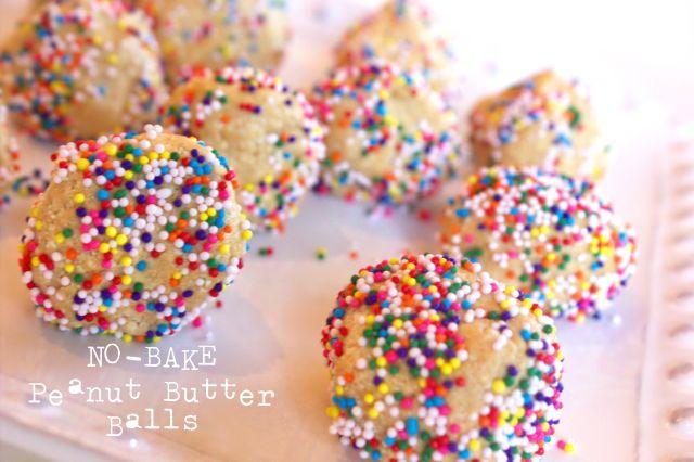 No-Bake Peanut Butter Balls - Plowing Forward